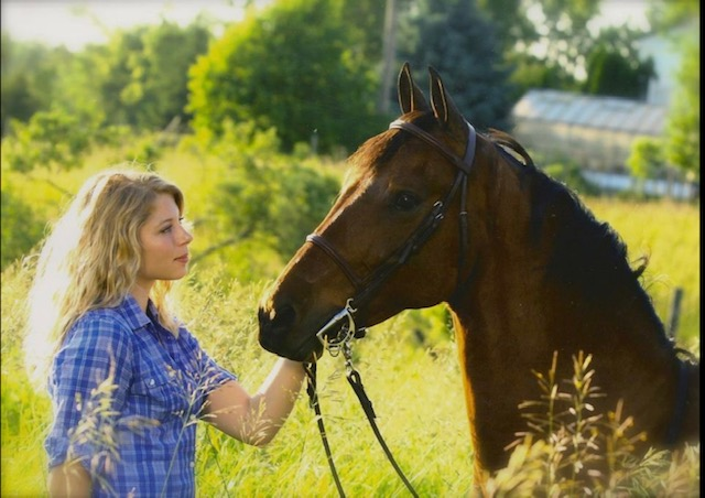 Tricia with her horse Ace