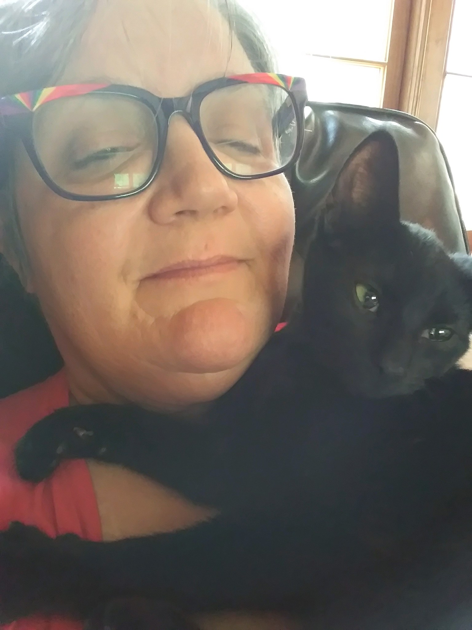 Michele and her kitty